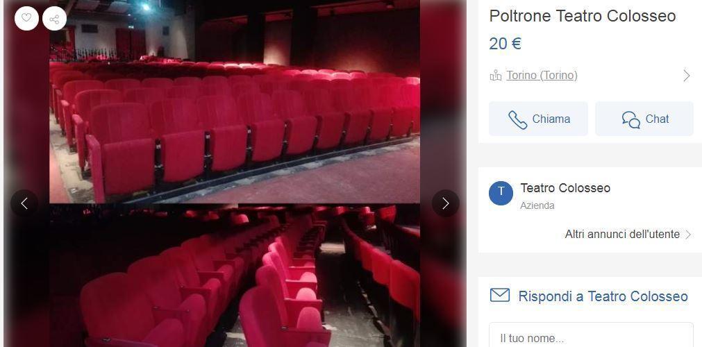 Subito It Poltrone.Teatro Colosseo Poltrone Rosse In Vendita A 20 Euro Su