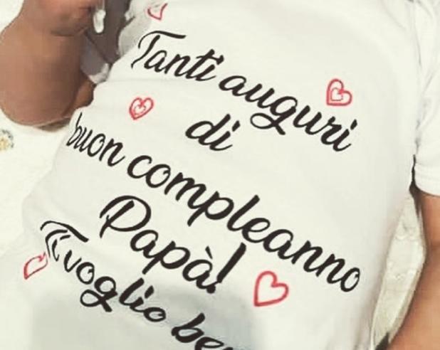 Gli auguri della piccola Nina a papà Luca Argentero: «Ti voglio bene»