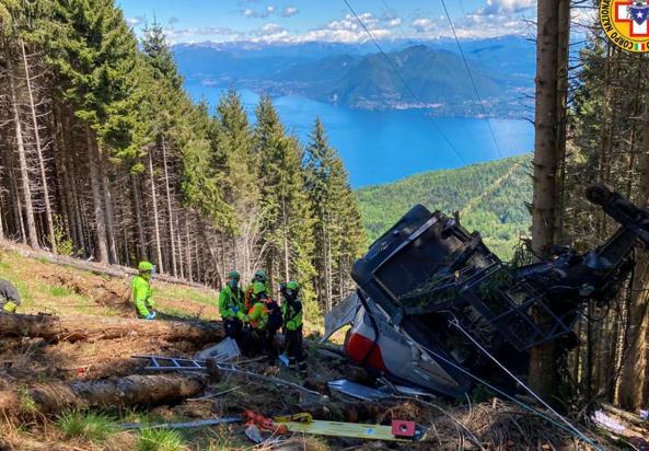 La strage della funivia Stresa-Mottarone di domenica 23 maggio 2021: la fotostoria