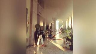 Torino, fumo dal Xò Cafè in via Po